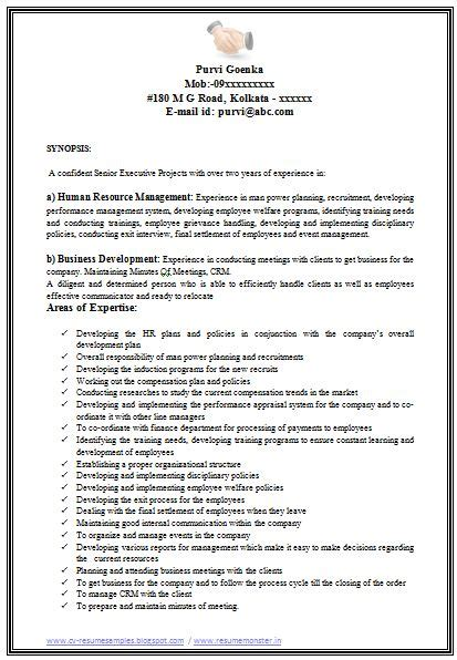 resume format word for hr professional curriculum vitae resume template for all seekers sle template of an