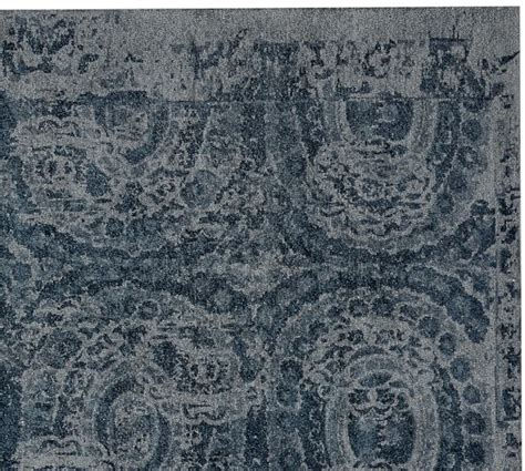 Pottery Barn Bosworth Rug Bosworth Printed Wool Rug Blue Pottery Barn