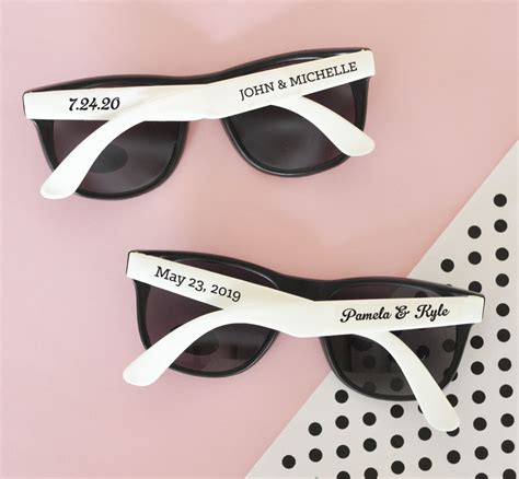 Personalized Wedding Favors by Personalized Wedding Sunglasses Bachelorette