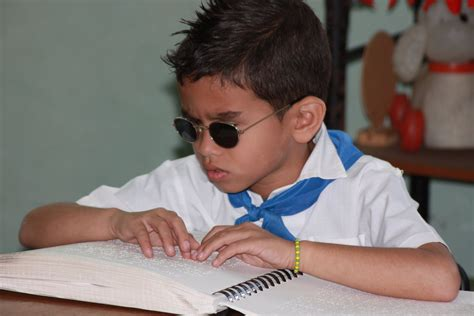 My Child Is Blind A Blind Child Learning To Read Braille Chronic