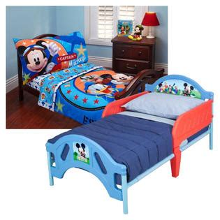 mickey mouse bedroom furniture disney s mickey mouse toddler bed bedding set bundle