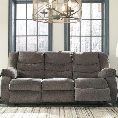 Signature Design Reclining Sofa Signature Design Tulen Reclining Sofa Harrington Home Furniture