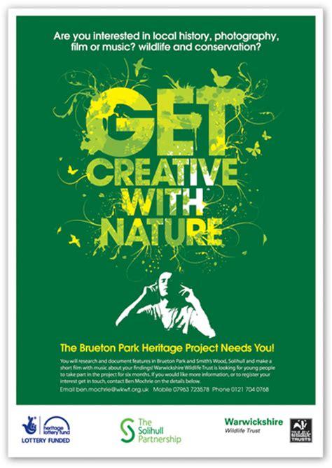 poster design nature contemporary poster design