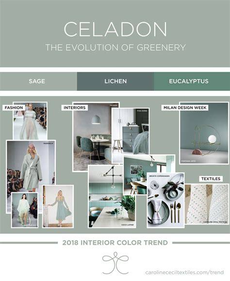 interior design colors interior color trends 2018 ss18 aw18 greenery