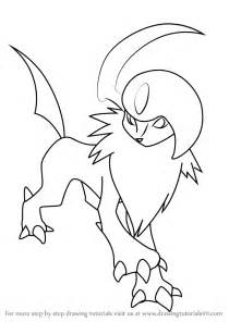 learn draw absol pokemon pokemon step step drawing tutorials