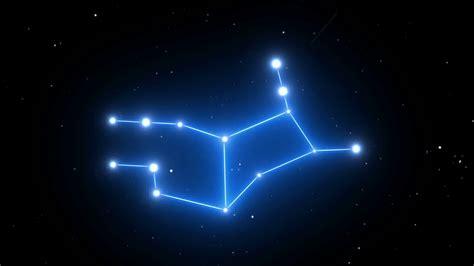 constellation background virgo constellation on a beautiful starry background