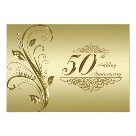 50th wedding anniversary invitation card zazzle