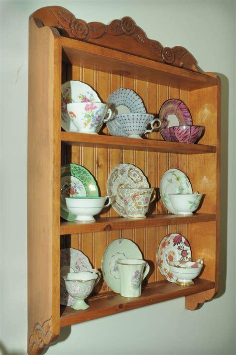 D Cup Shelf nine cup tea cup shelf shelves tea cups