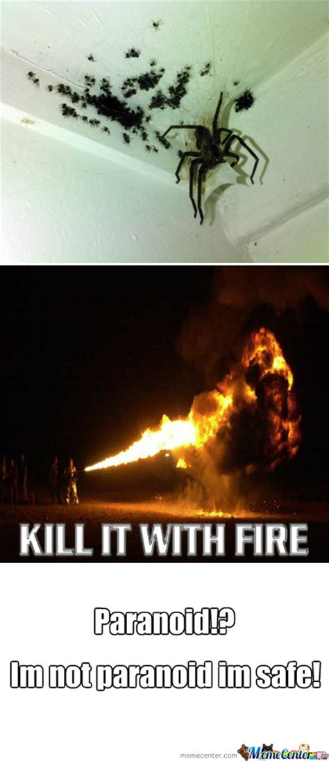 Spider Fire Alarm Meme - dont come crying to me when spiders take over your house