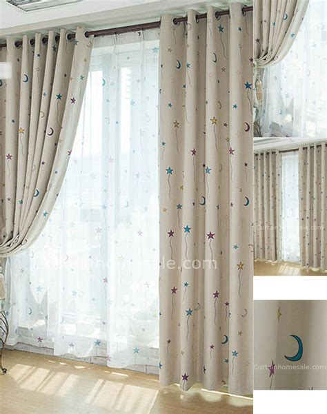 Cute Nursery Blackout And Thermal Star Curtains Kids Nursery Curtains