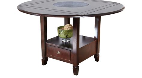 bench height for dining table landon chocolate brown round counter height dining table