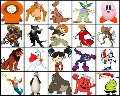 Character With Letter K K Characters By Picture Quiz By Thejman