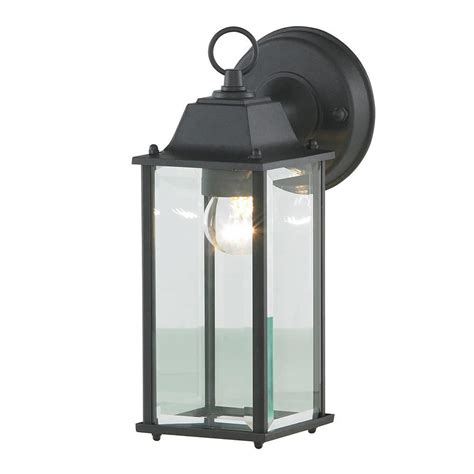 outdoor wall lights black colone outdoor lantern bevelled glass wall light black