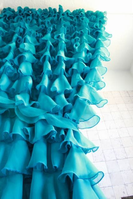 diy ruffle shower curtain diy ruffled shower curtain made from sheets by the rooster