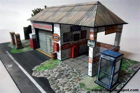 Papercraft Diorama - the generic garage paper model by mauther on deviantart