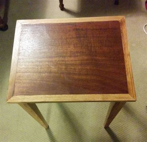wormy chestnut end tables wormy chestnut end table by bernspen lumberjocks com