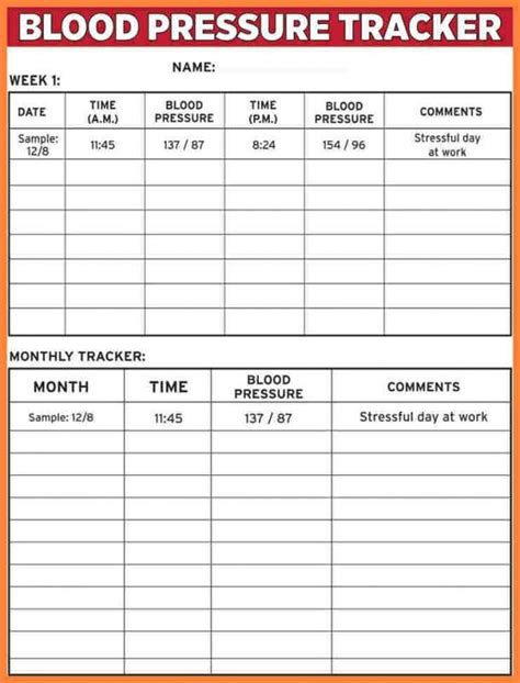 pin  drive  template blood pressure chart blood