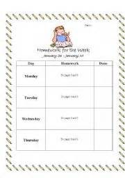 teaching worksheets homework