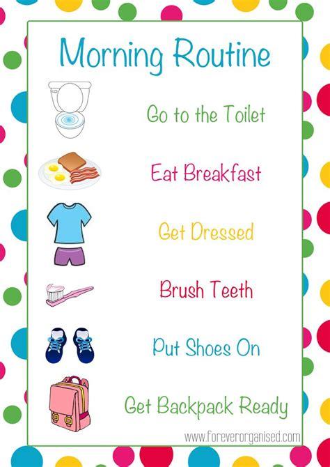 Toddler Morning Routine Printable