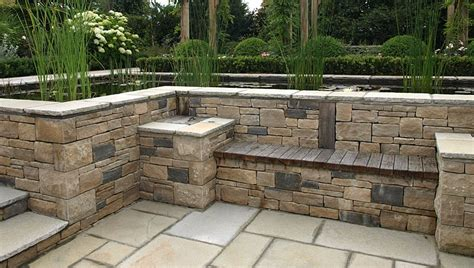Front Porch House Plans by Patio Design And Natural Stone Walling Landscape Garden