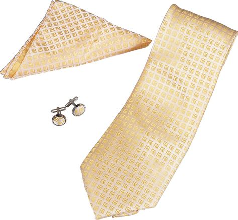 yellow pattern pocket square toriz yellow pattern tie cufflinks and pocket square gift set