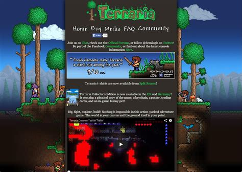 L Post Terraria by The New Official Terraria Website Is Live By Loki Terraria