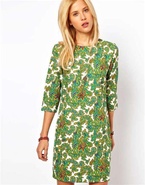 print shift dress shift dress in paisley print