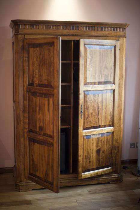stock photo  rustic wooden wardrobe  armoire