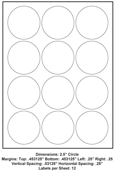 circle      adhesive label paper