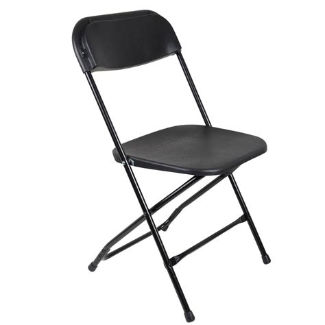 Black Plastic Folding Chairs by Set Of 2 Black Folding Plastic Garden Chairs Great For
