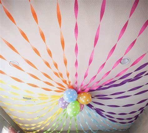 With Crepe Paper - how to decorate with crepe paper streamers crepe paper