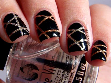 new year nail design simple easy way for glitter nail snazzymag