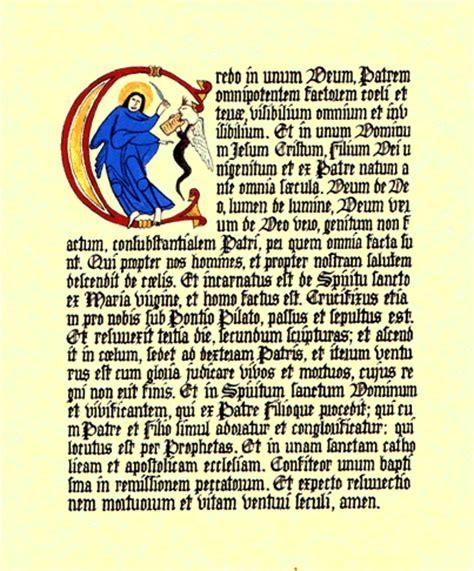 credo cattolico testo el padre eduardo el credo niceno constantinopolitano