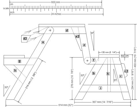 folding picnic table front elevation plan epr