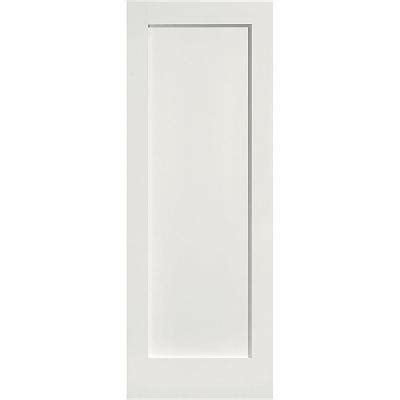 Single Panel Interior Doors Masonite 24 In X 80 In Mdf Series Smooth 1 Panel Solid Primed Composite Interior Door