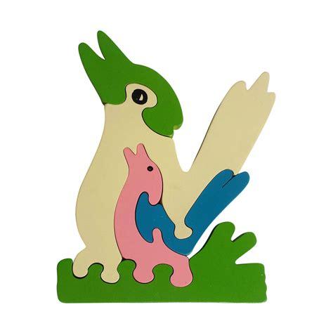 Animal Puzzle kookaburra wooden animal puzzle jigzoos