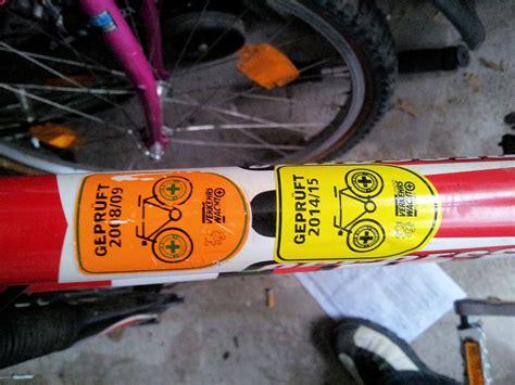 Aufkleber Verkehrssicheres Fahrrad by Mein Letztes Rad Der Letzte Aufbau Seite 10 Mtb News De