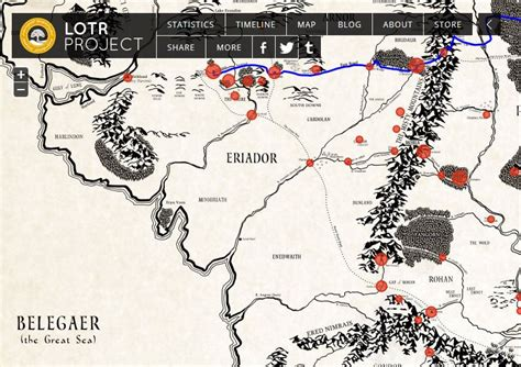 the hobbit interactive map a new interactive historical map of middle earth from