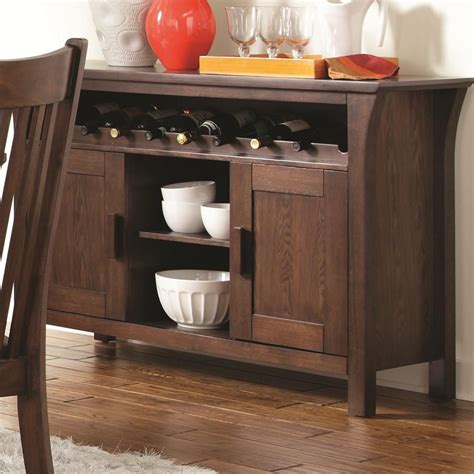 coaster rivera 103645 brown wood buffet table in los