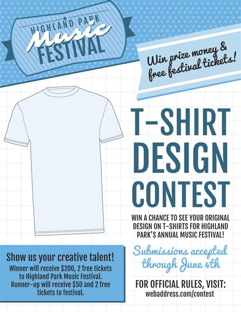 contest flyer template new t shirt contest marketing flier templates inksoft