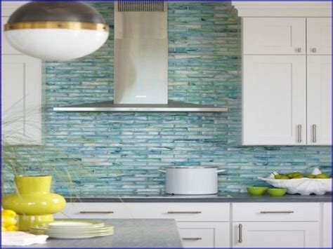 glass tiles for kitchen backsplashes sea glass backsplash tile
