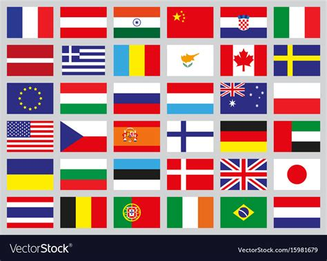 flag of image set of flags of different countries royalty free vector