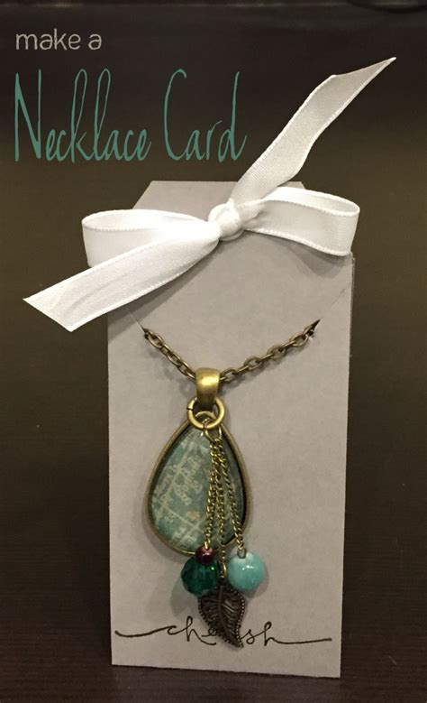how to make and sell jewelry how to make a necklace card the crafty stalker