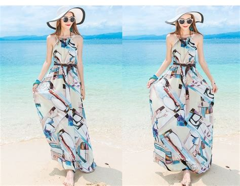 Flower Printing Sml Dress b25103 dress pantai blue summer s m l summer