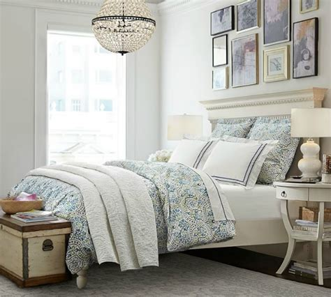 potteru barn ideas for how to decorate the space above your bed