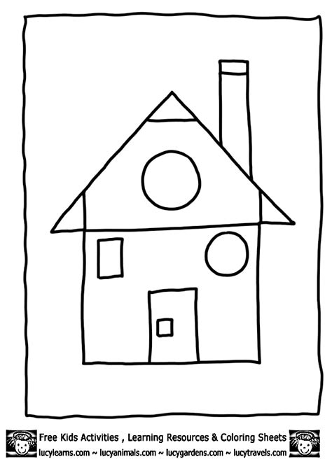 house shape coloring pages math pictures for kids cliparts co
