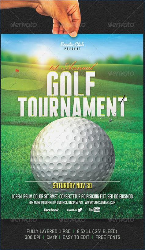 Golf Tournament Flyer Template Powerpoint