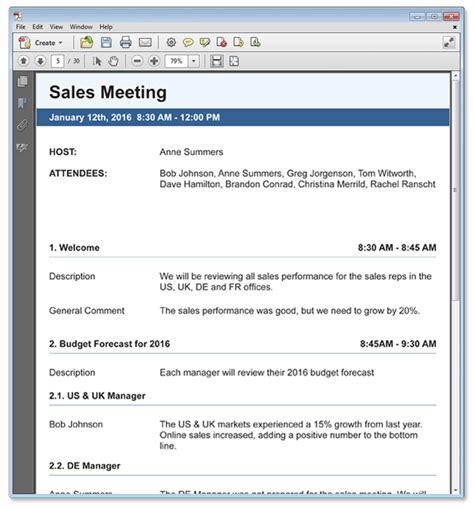 minutes sle template meeting minutes
