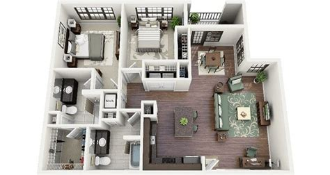 2 bedroom apartments houston studio 1 2 bedroom 19 awesome 3d apartment plans with two bedrooms part 1