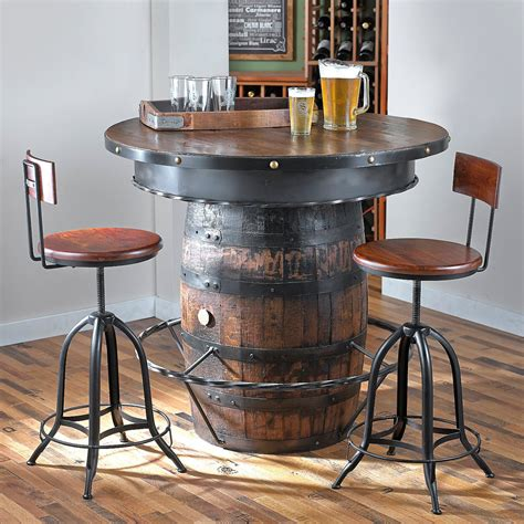 tennessee whiskey barrel pub table so that s cool